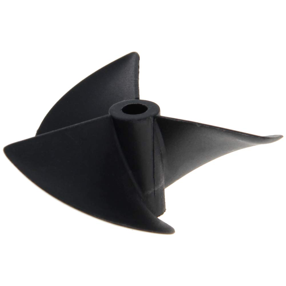 Fielect 1Pcs Three Blade Propeller for Ship Model Rc Boat Propeller Model Black Plastic Positive Paddle 55mm Diameter 40mm Pitch 4.8mm Hole Dia