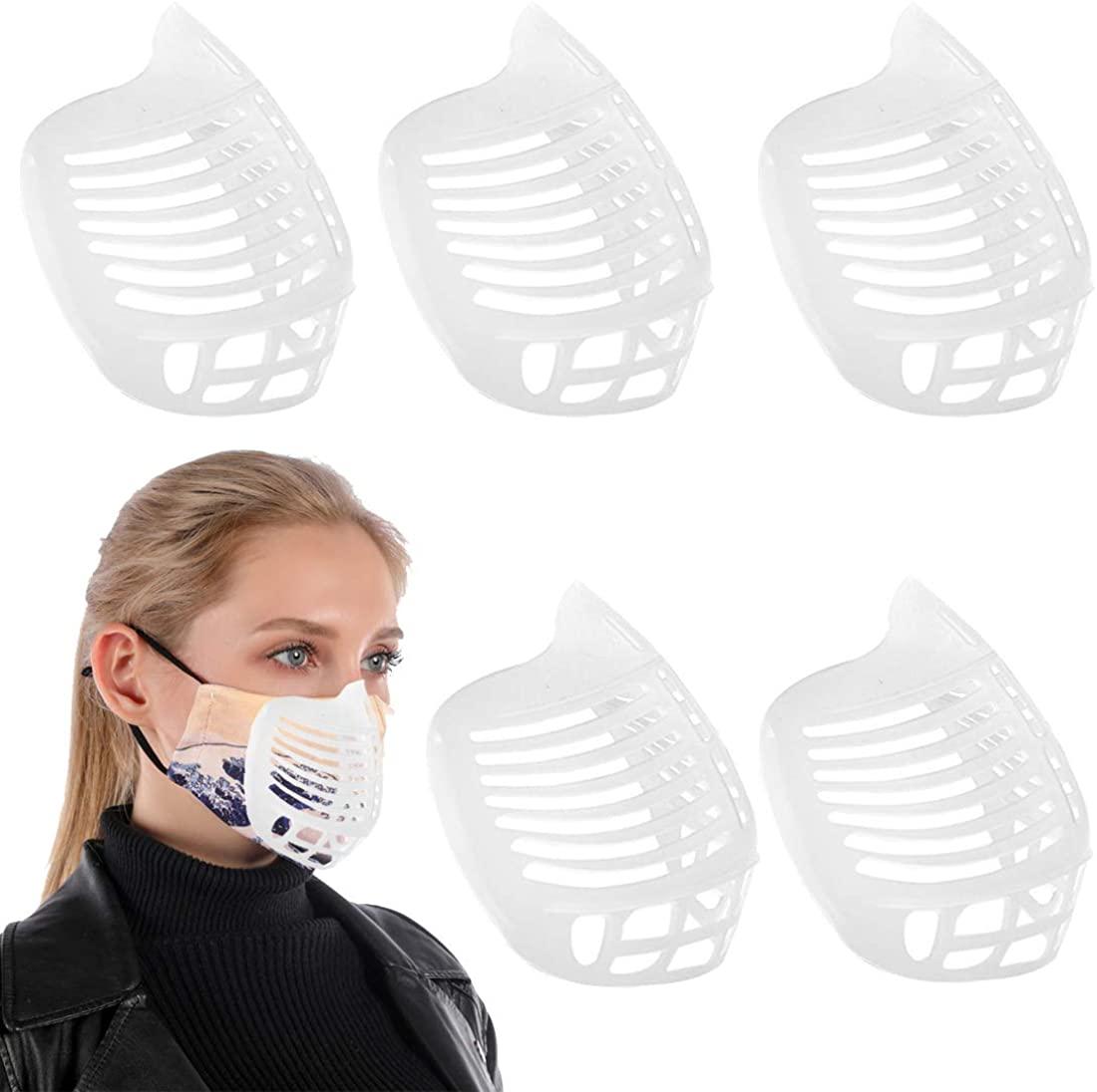 3D Odorless Mask Brackets Silicone Inner Support Frame Extenders for Comfortable Breathing