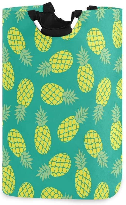 senya Large Collapsible Storage Bin/Pineapple Summer Colorful Storage Basket/Clothes Laundry Hamper/Toy Books Holder(b)