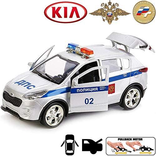 Diecast Metal Model Car Kia Sportage Russian Police Toy Die-cast Cars