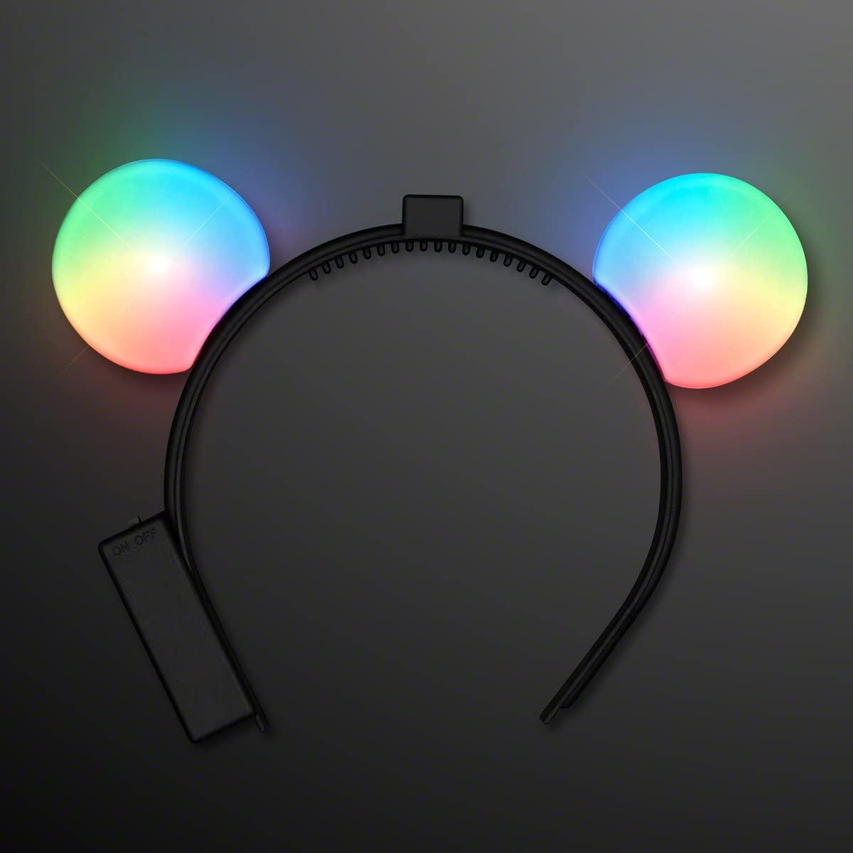 FlashingBlinkyLights Color Changing LED Mouse Ears Light up Headband