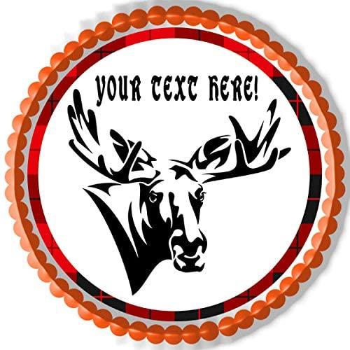 Moose - Edible Cake Topper - 7.5