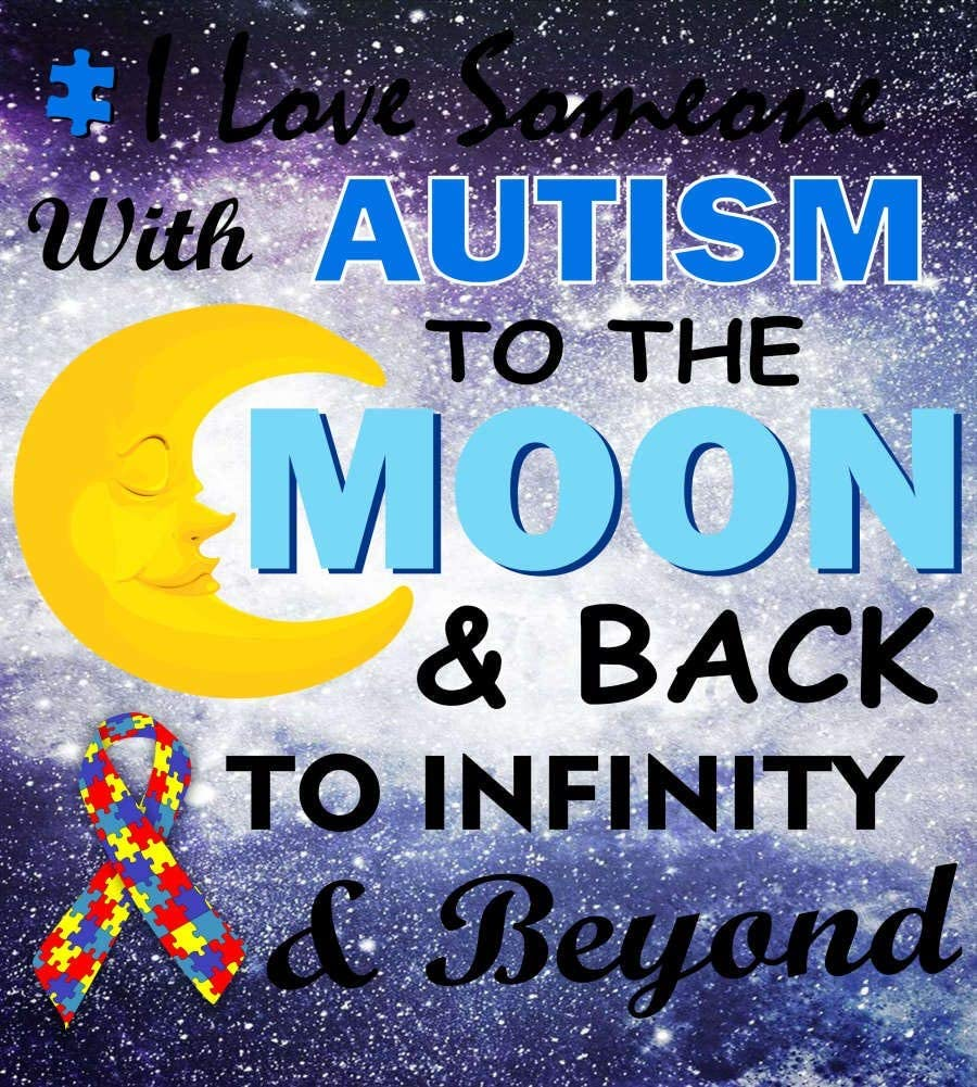 Jigsaw Puzzles I Love Someone with Autism to The Moon & Back Large Wooden Puzzles for Adults 1000 Piece