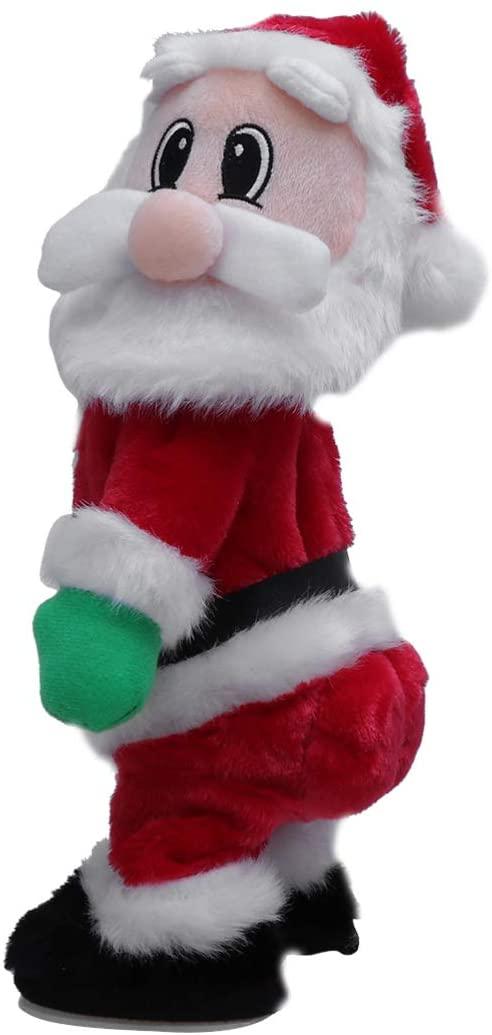 TOYANDONA Twerking Santa Claus,Christmas Santa Claus Figure Twisted Hip Singing and Dancing Chrismas Toy for Kids Xmas Decorations Funny (English Song)