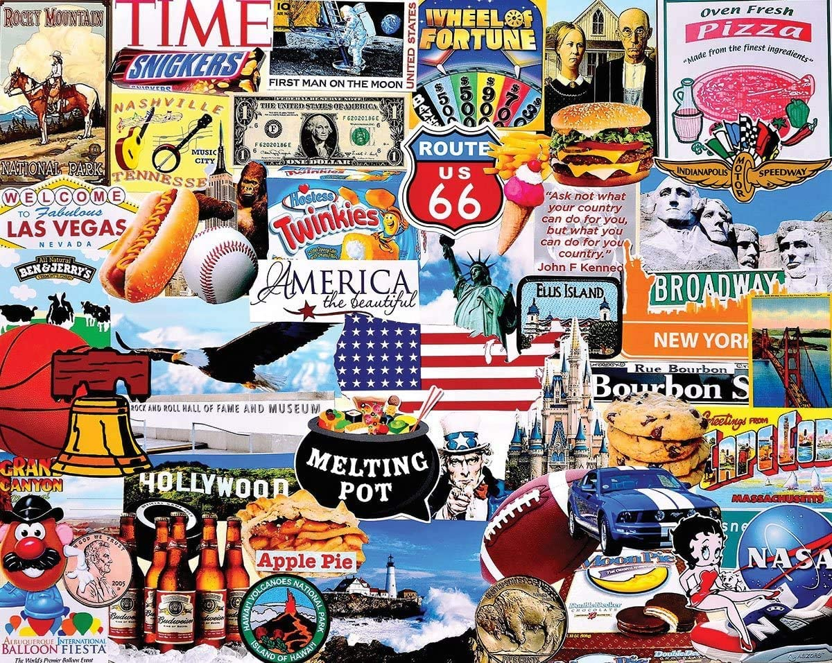White Mountain Puzzles I Love America - 1000 Piece Jigsaw Puzzle Version 1