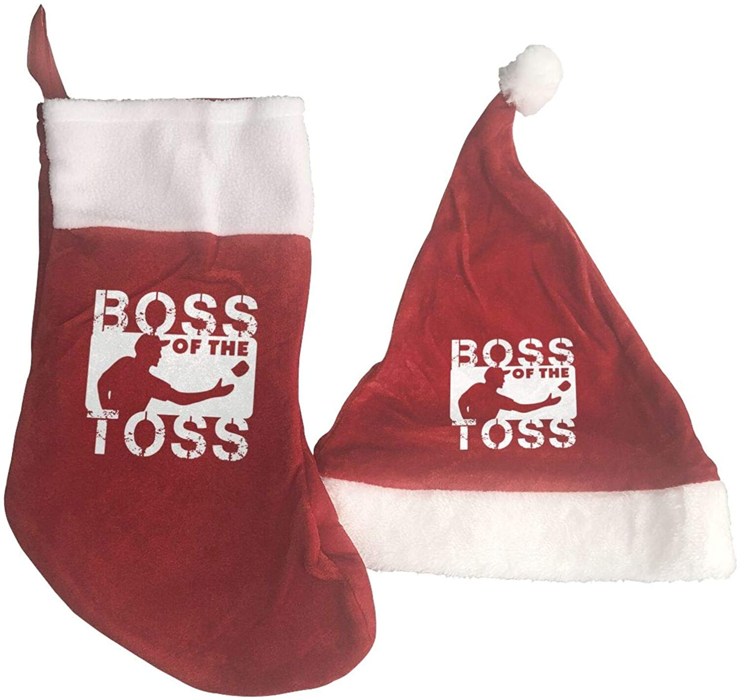 Boss Of The Toss Cornhole Christmas Hat Christmas Stocking Ornaments And Family Holiday