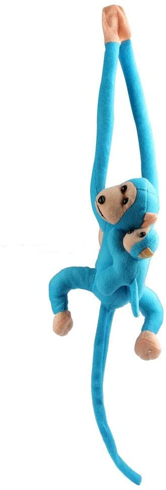 Electric Interactive Plush Monkey Toys Animal Electronic Moving Battery Operated Pet Walking Interactive bedsleeping Entertainment Toys for Kids Children Toddlers Gift Party Pet Lover(Blue