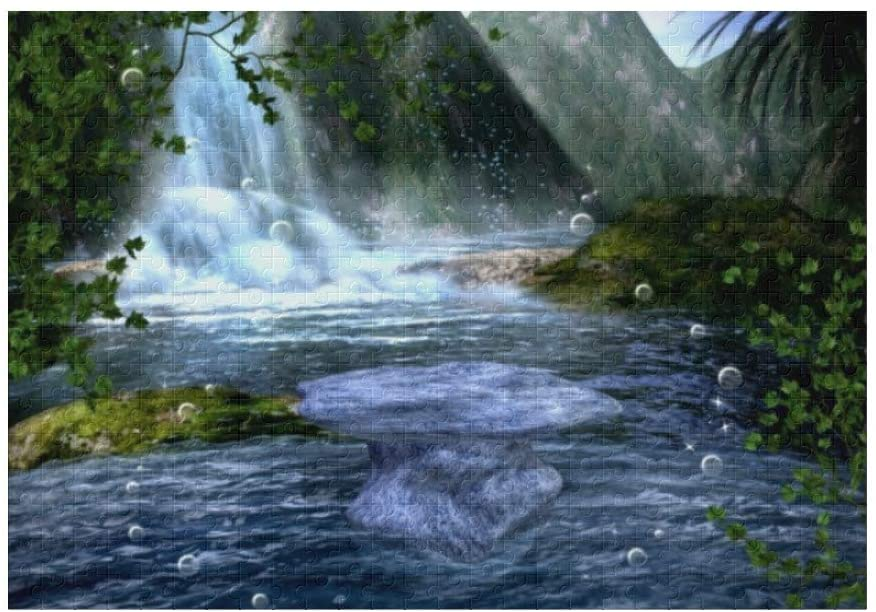 Custom Puzzles Waterfall Landscape 500 Pieces Jigsaw Puzzle Funny Novelty DIY Toys for Adult Children