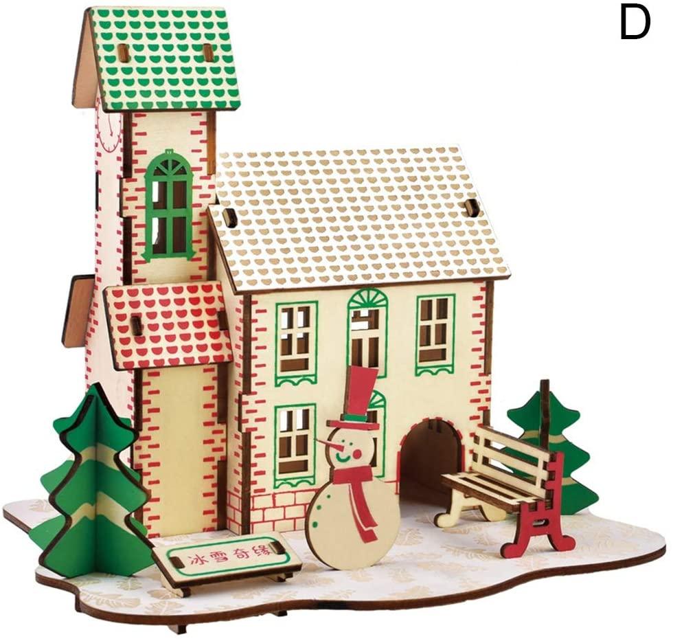 oAtm0eBcl IQ Builder |Challenging IQ Games丨Kids Children Mini Cabin House Sky Wheel Model 3D Jigsaw Puzzle Game DIY Toy丨Mental Exercises for Sharp Young Minds - 100% Child Safe … D
