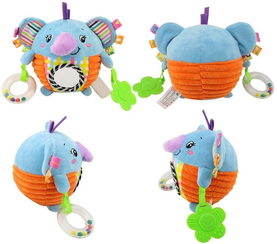 Bed Bell for Baby Pendant, Extra Soft Hanging Plush Doll Crinkle Squeaky Developmenta Interactive Toy for Boys Girls Baby Infant Newborn