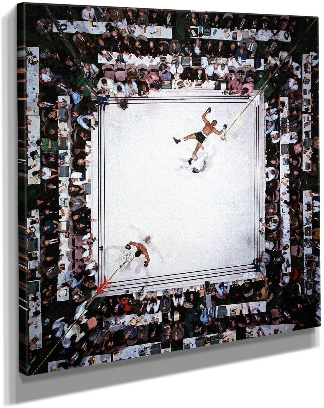 Muhammad Ali Knockout Canvas Wall Art Print - Various Sizes (36in x 36in Gallery Wrapped)