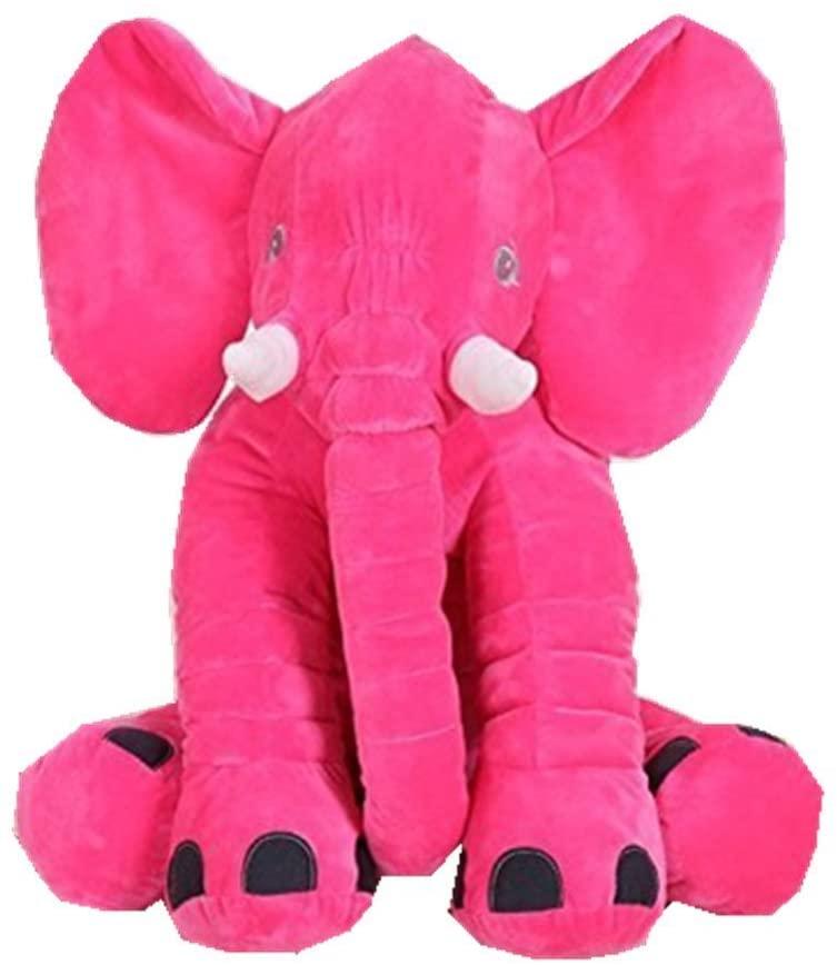 MJTP Long Nose Elephant Plush Toys Soft Toys Stuffed Animal Toys 24 inch (Rose)