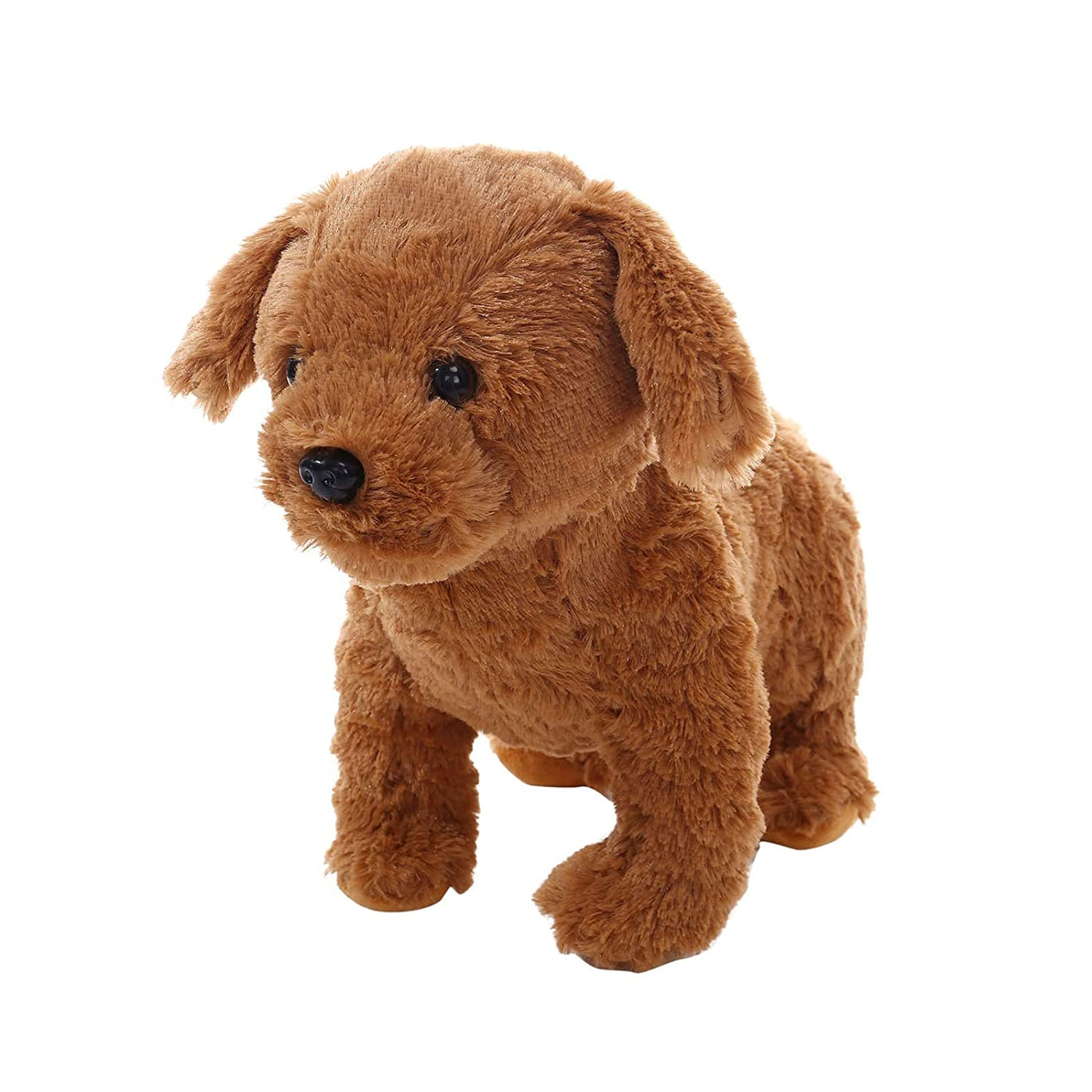 Charlasl Realistic Teddy Dog Lucky, Newest Handmade Realistic Figure Toy Dog Plush Stuffed Animal Puppy Toys Plush Doll, Lifelike Stuffed Interactive Pet Toy - Classic Gift for kids Teens Adults