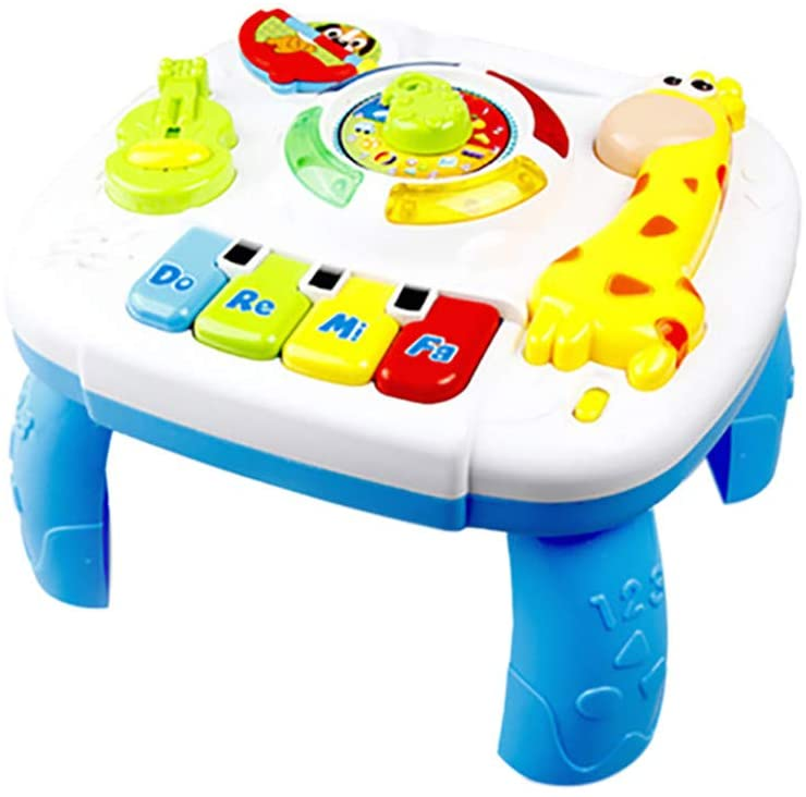 Toy Baby to 12-18 Months Musical Educational Learning Activity Table Center for Toddlers Infants Kids 1~ 3 Year Olds Boys Girls Gifts