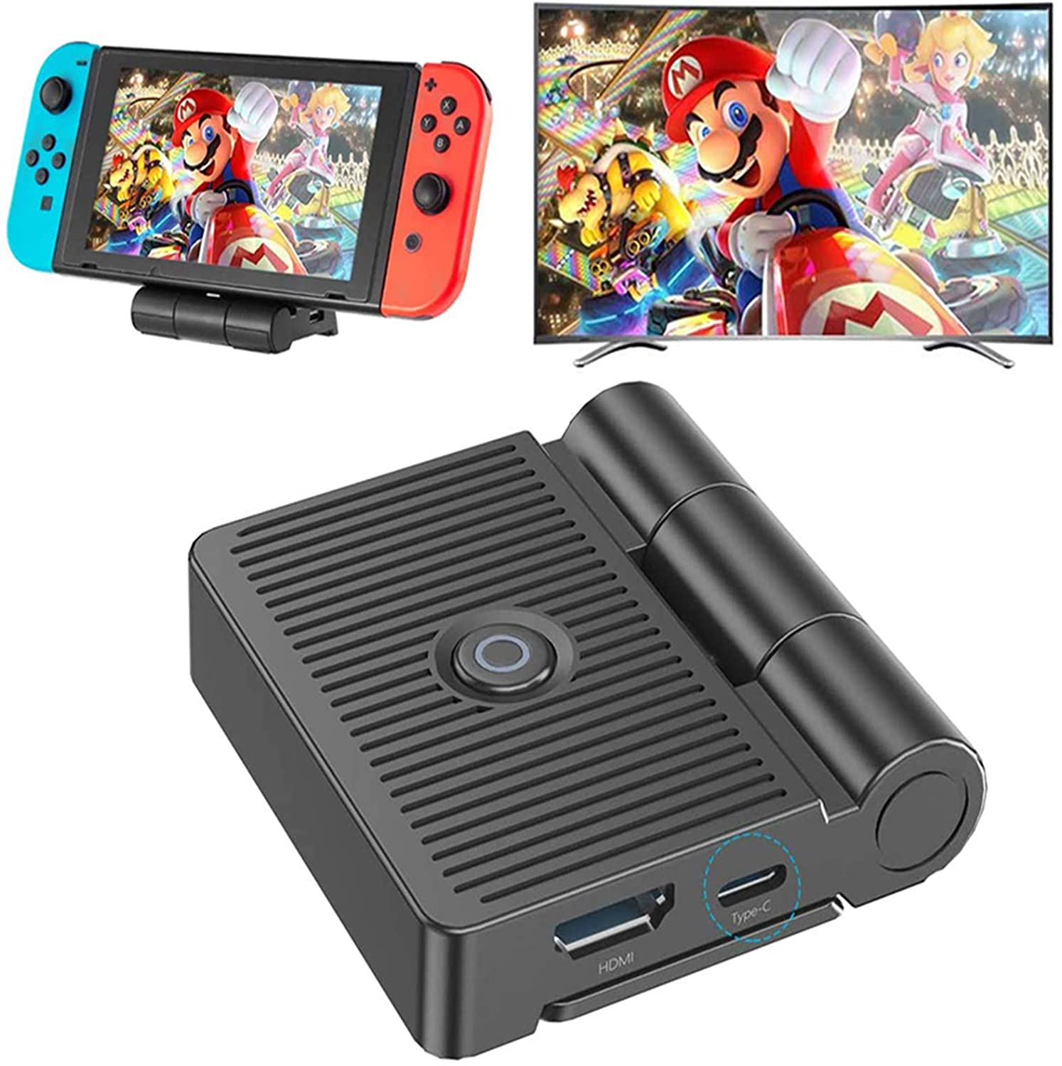 Switch TV Dock, Replacement for Nintendo Switch Dock Station Foldable with 1080P HDMI and USB 3.0 Port