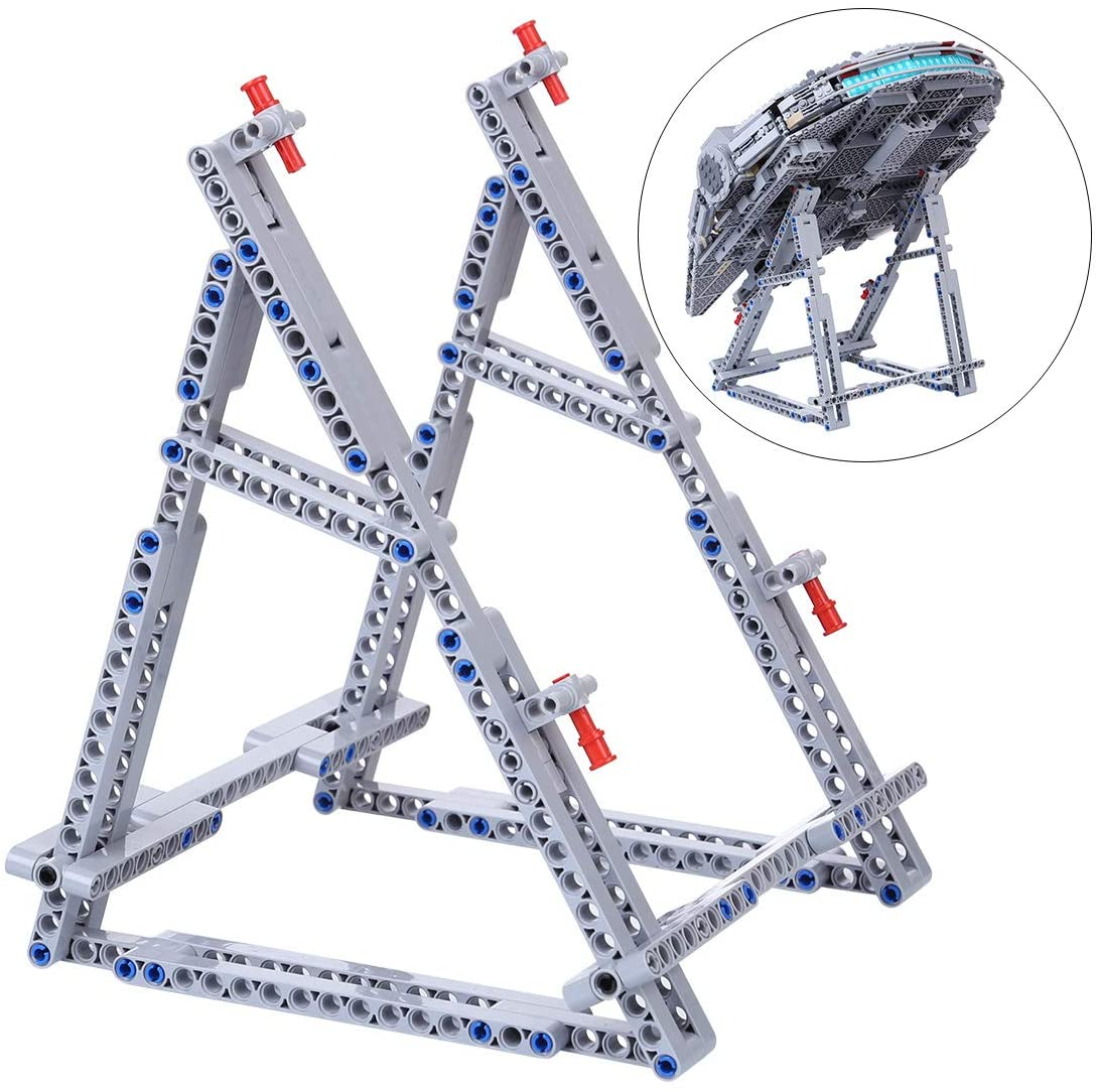 FenglinTech Vertical Stand for Lego Star Wars Ultimate Millennium Falcon 75105/75212/7965 Building Kit (Lego Set Not Included, 3rd Party Lego Accessory)