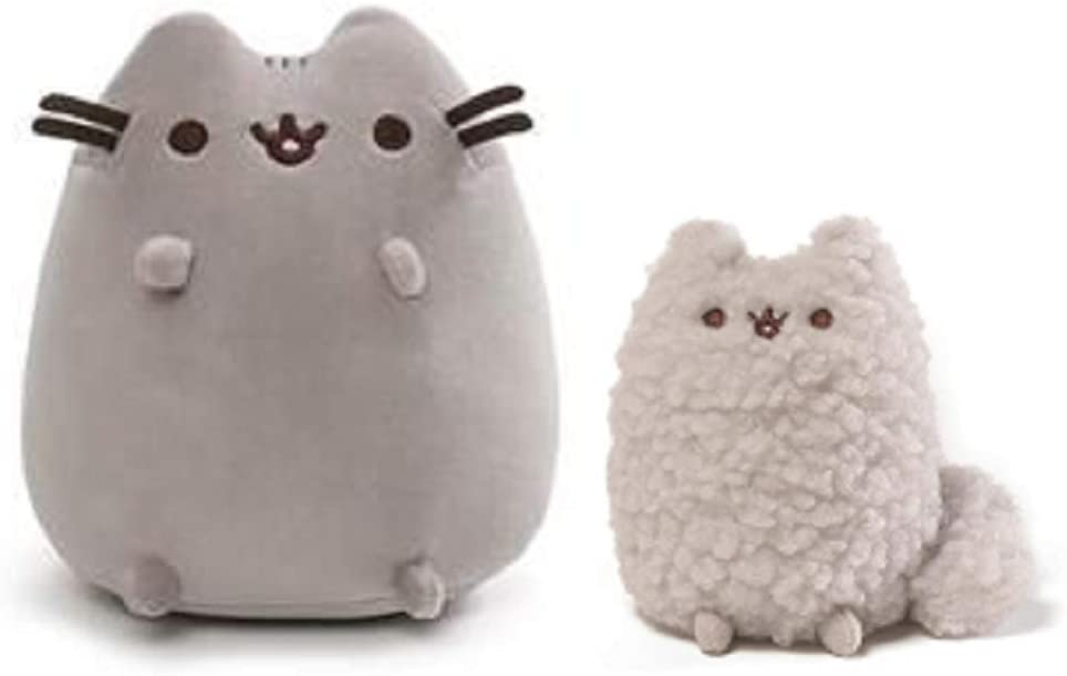 GUND Squisheen Sitting Pusheen Plush Bundle with Stormy Plush