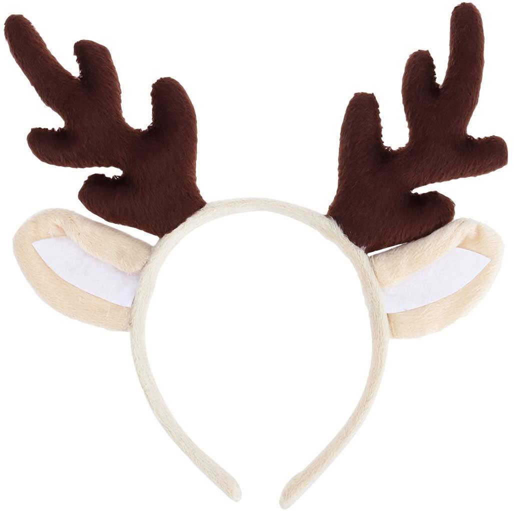 PRETYZOOM Reindeer Antler Hair Hoop Christmas Kids Headband Headwear for Children Christmas Costume Party (Brown) Party Favor