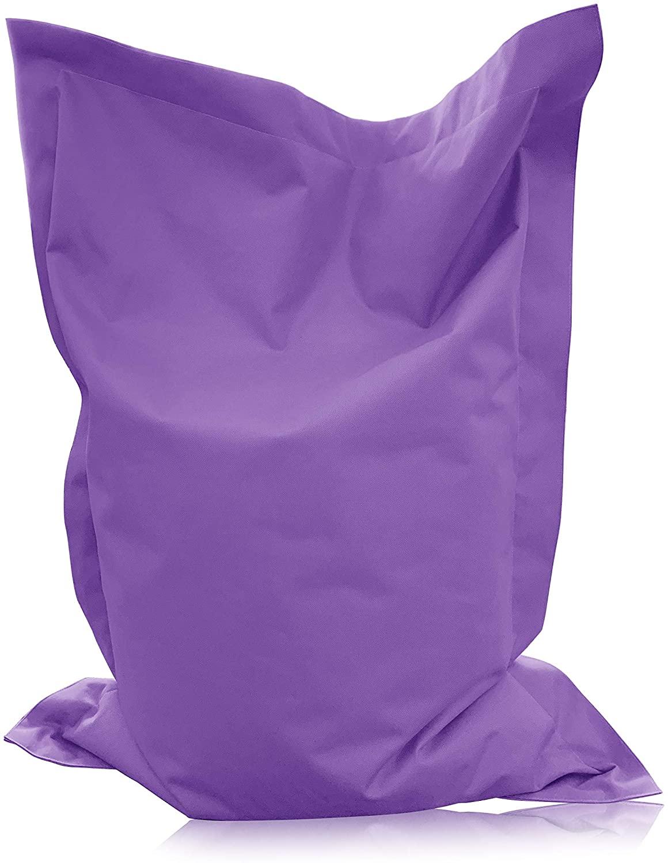 alibey Giant Bean Bag - for Children - Rectangular - Indoor and Outdoor Chair - 15 Colors - Purple - 63