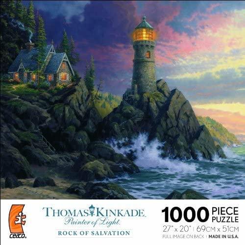THOMAS KINKADE Painter of Light ROCK OF SALVATION 1000 Piece Jigsaw Puzzle