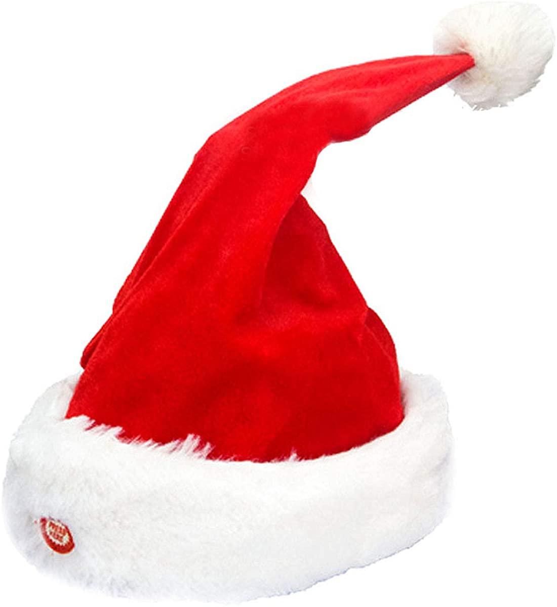 Mily Singing Dancing Moving Santa Hat Plush Funny Dancing Hat