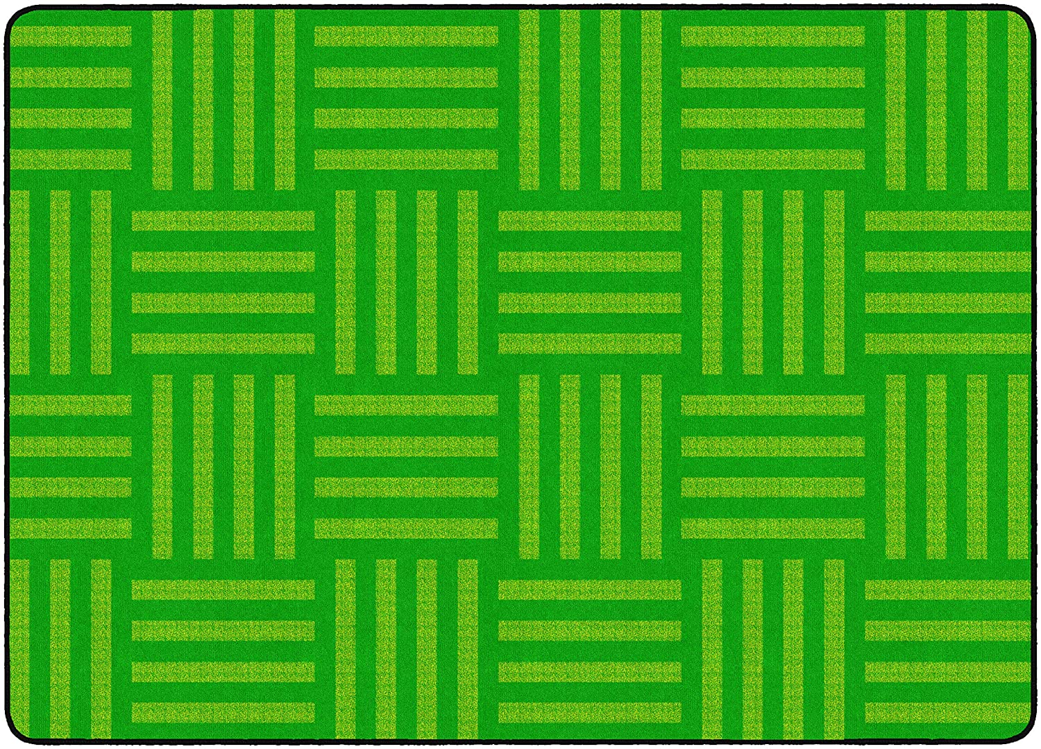 Flagship Carpets FE383-32A Hashtag Tone on Tone Lime (Seats up to 24), Children's Classroom Rug, Rectangle, 6'x8'4