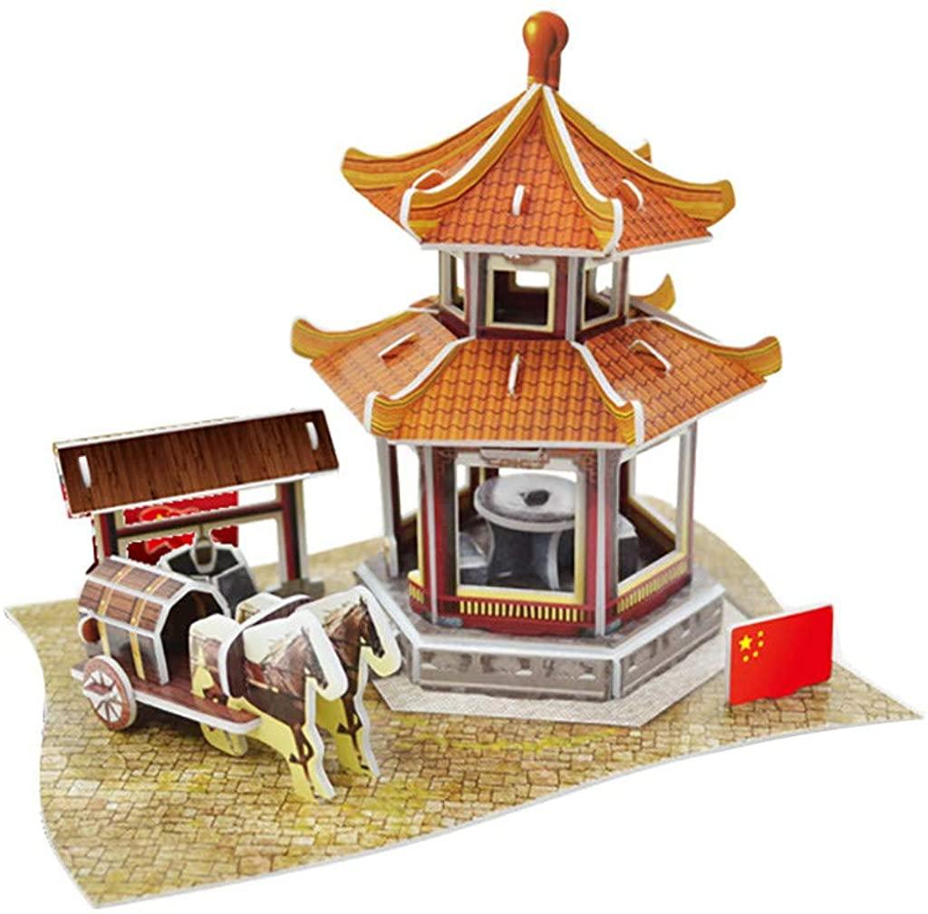Xia&Han Ancient Building 3D Puzzle for Adults, Children Paper Puzzle Intellective Educational Toy Landscape Gift