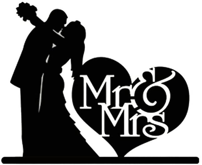 ROSENICE Wedding Cake Topper MR Mrs Acrylic for Anniversary Birthday Party Decoration