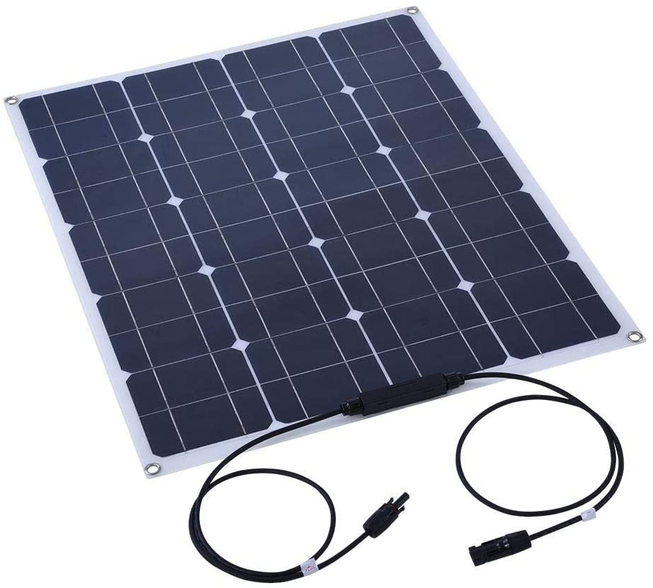 Mugast 80W 18V Monocrystalline Lightweight Flexible Solar Panel, High Efficient Conversion, Built-in Anti-Flow Protection Device