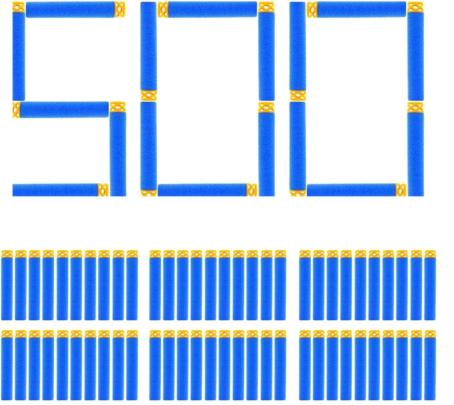 EKIND 500 Pcs Waffles Darts Compatible with N Strike Blaster (Light Blue)