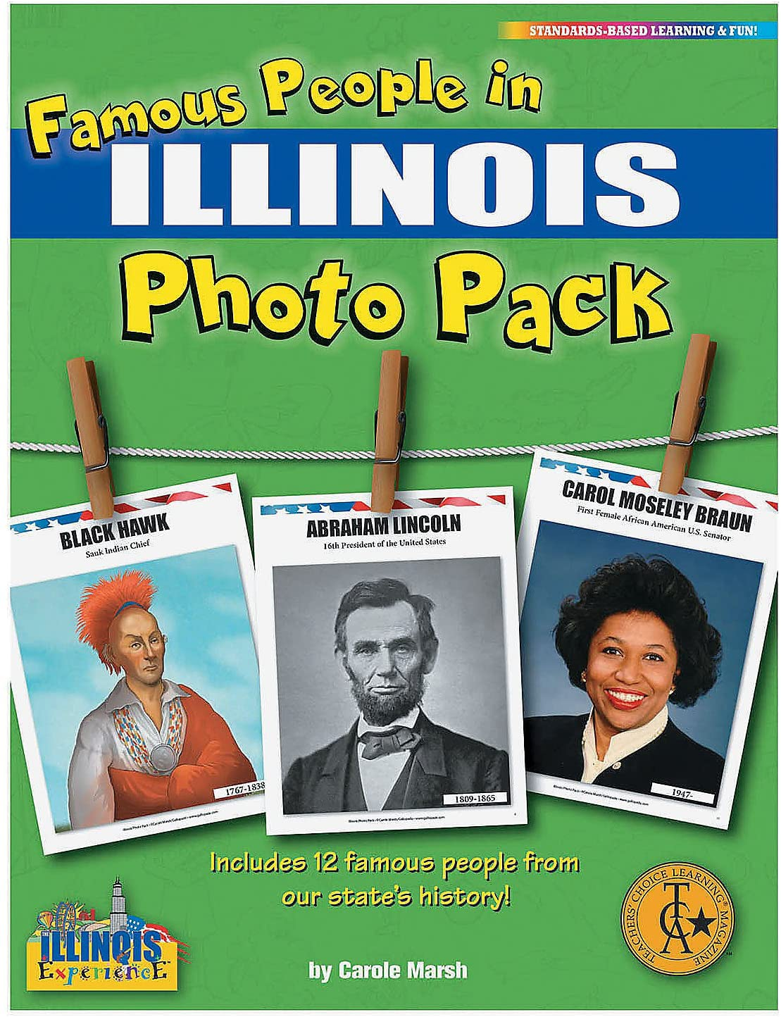 Fun Express Famous People History Pack - Il - 12 Pieces - Educational and Learning Activities for Kids