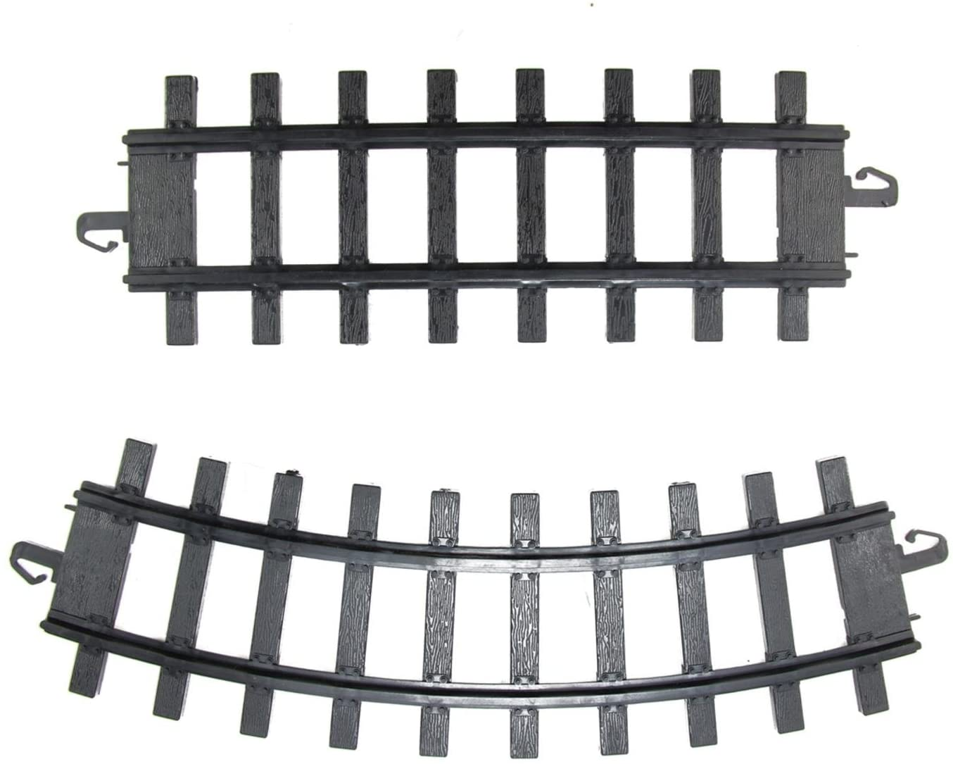 Northlight Pack of 12 Black Replacement Train Set Track Pieces - 4