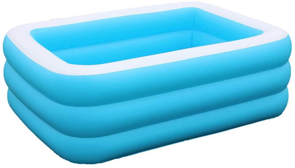 [2020 New ] Family Inflatable Swimming Pool Inflatable Center Lounge Pool Bath Tub for Family,Baby, Kiddie, Kids, Adult, Outdoor, Garden, Backyard, Summer Water Party Backyard Toy(51x35x17in)