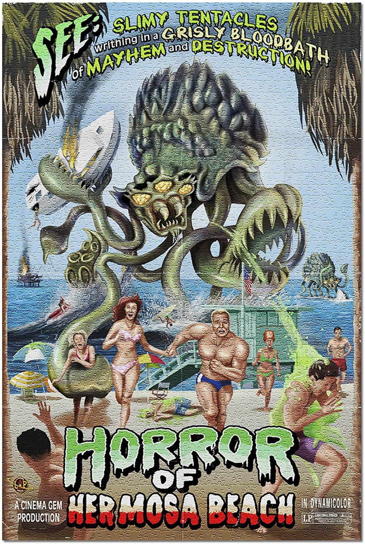 Hermosa Beach, California - Alien Attack Horror 43605 (19x27 Premium 1000 Piece Jigsaw Puzzle for Adults)