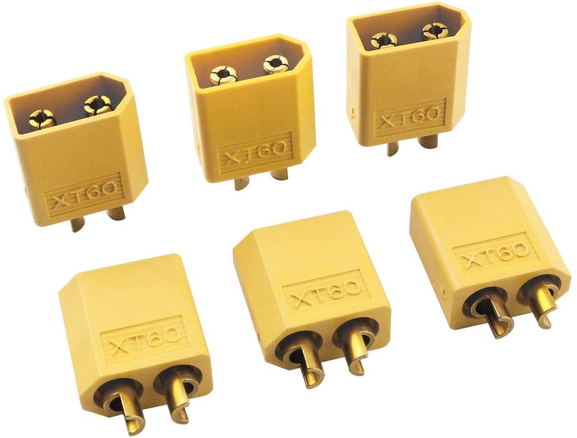 ZRM&E 6 Pairs XT60 Male Female Bullet Connectors Plugs for RC Lipo Battery