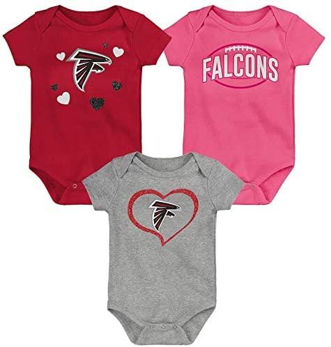 Outerstuff NFL Atlanta Falcons 3 Pack Bodysuits Girls