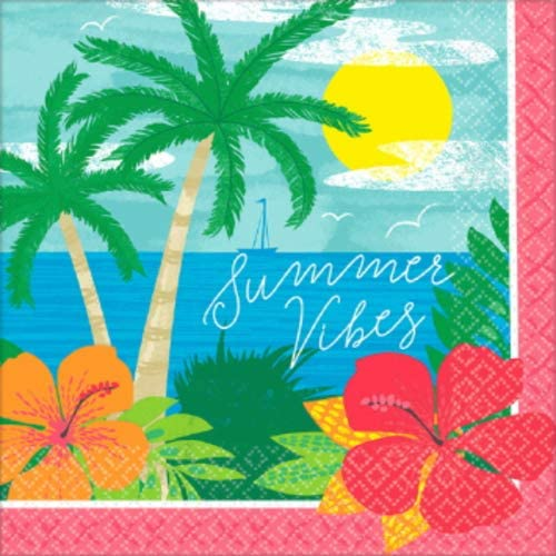 Amscan Party Supplies Summer Vibes Luncheon Napkins, One Size, Multi