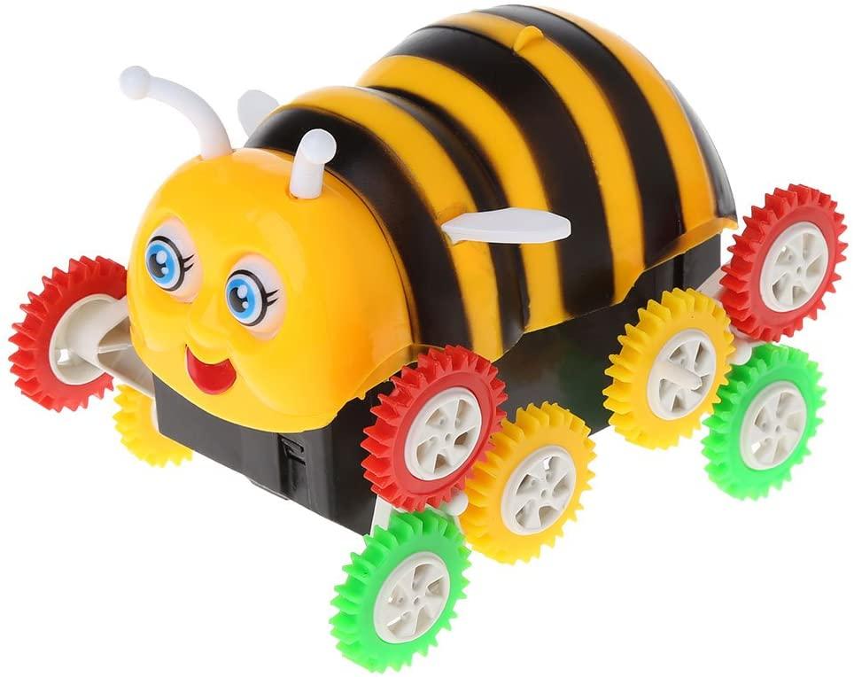 7haofang Amazing Cute Electric Cartoon 12 Wheels Bee 360 Degree Tumbling Car Toy Best
