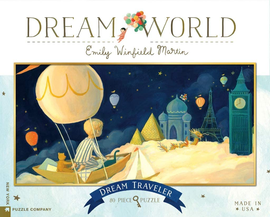 New York Puzzle Company - Dream World Dream Traveler - 80 Piece Jigsaw Puzzle