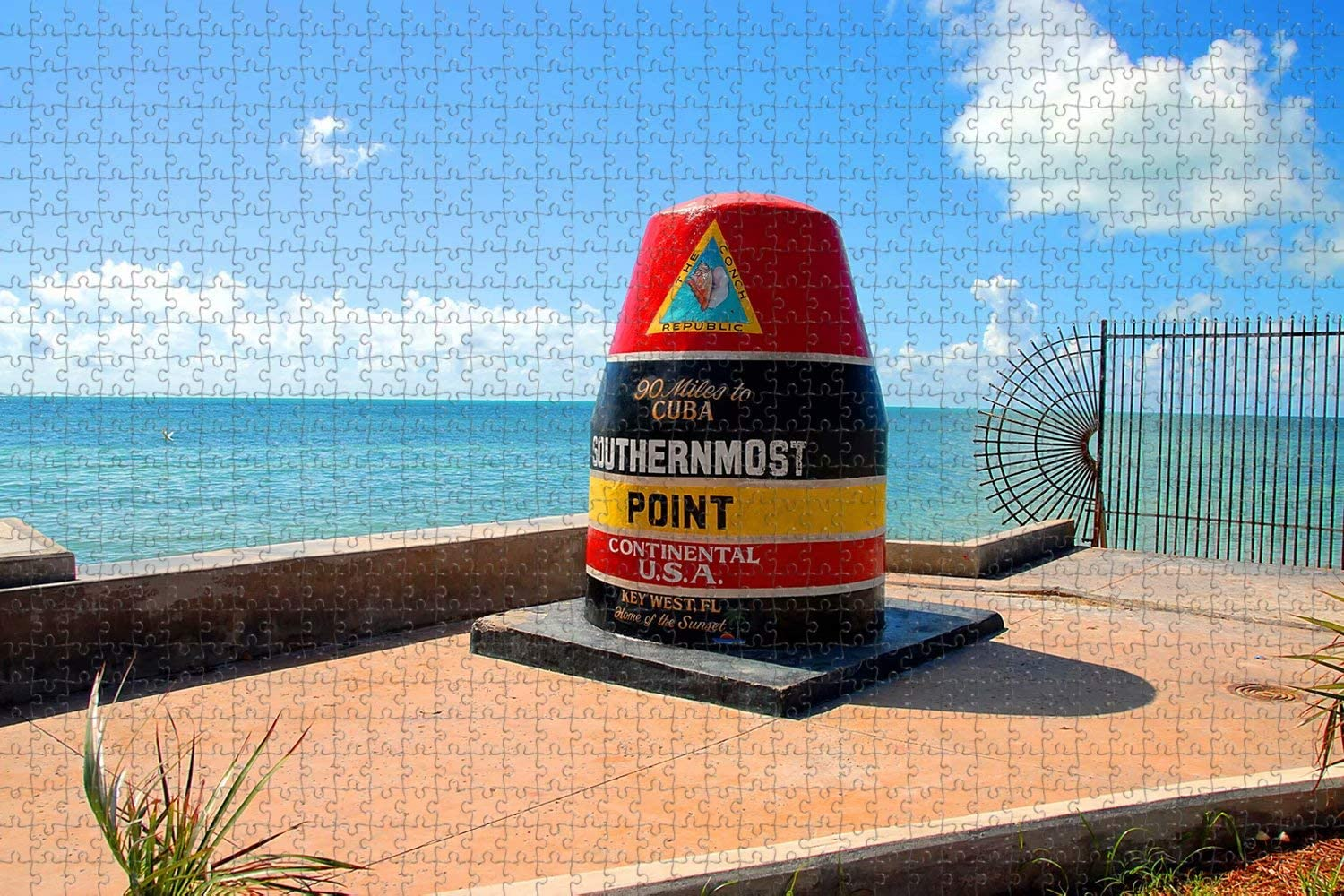 Jigsaw Puzzle for Adults 1000 Piece Southernmost Point Key West USA Travel Souvenir