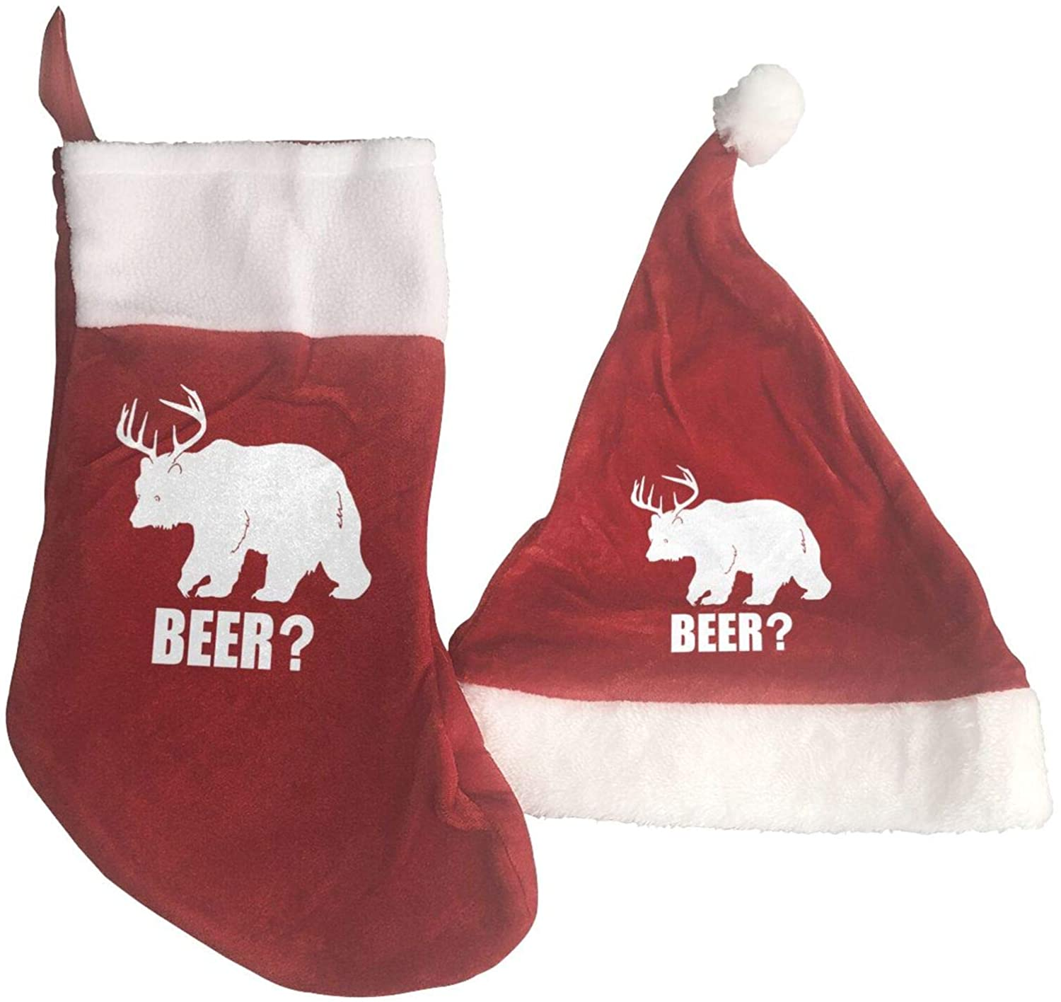Deer Beer Bear Christmas Hat Christmas Stocking Ornaments And Family Holiday