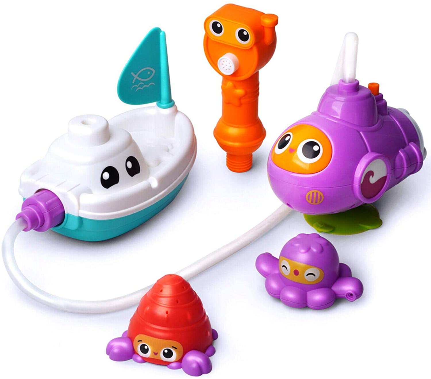 Bath Toy Water Jet Submarine Toy Wind Up Submarine Squirts for Kids.Sensory Development Bathtime Shower For3 4 5 Years & Up Old Baby | Toddler | Boys | Girls | Kids Gift