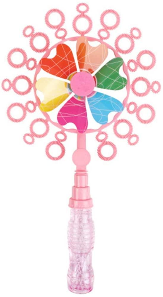 7haofang Double Hole Windmill Bubble Bar Soap Bubble Machine Bubble Water Funny Kids Toys