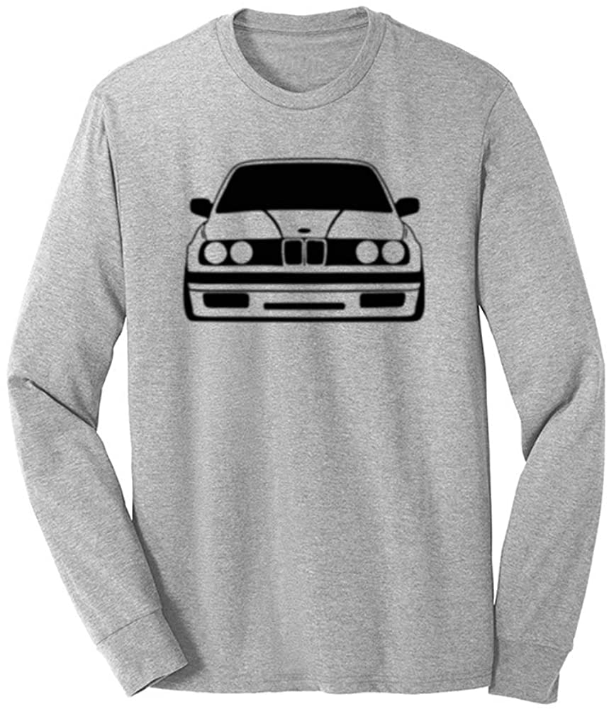Mens Classic E30 Car Graphic Novelty Vintage Auto Long Sleeve T-Shirts Tee