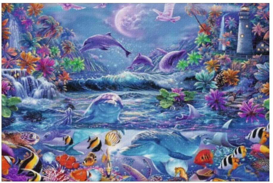 1000 Pieces Jigsaw Puzzle Custom Ocean World DIY Toys for Adults Children Gift Home Decoration