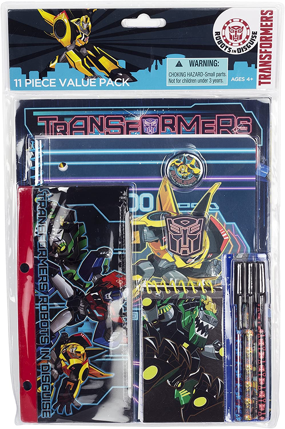 FAB Starpoint Transformers 11 Piece Stationery Value Set for School