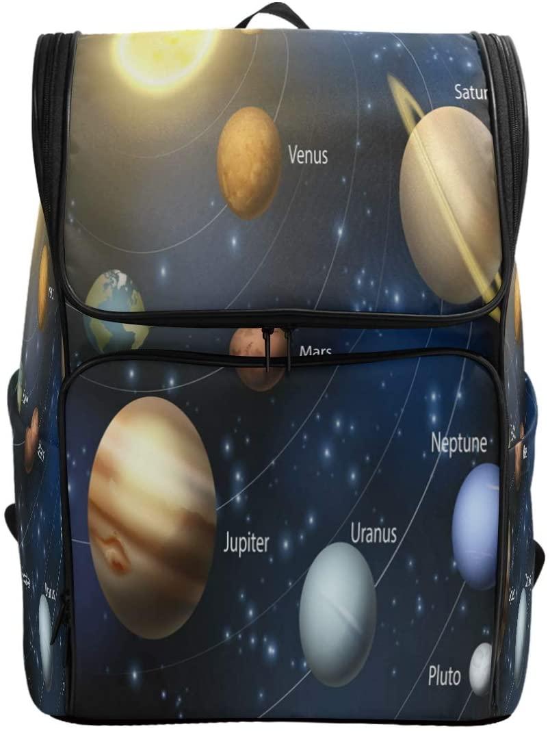 Use4 Solar System Planet Space Casual Backpack Daypack School Travel Shoulder Bag