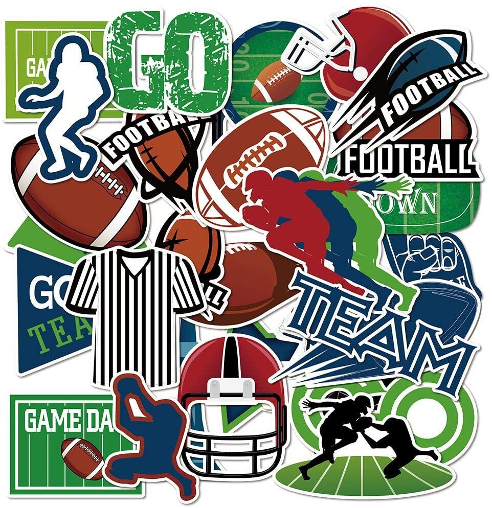 Anor Wishlife Football Luggage Stickers(60pcs),Football Laptop Stickers,Football Laptop Stickers,Football Notebooks Stickers,Football PVC Waterproof Stickers for Kids,Adults,Cars,Motorcycles,Bicycles