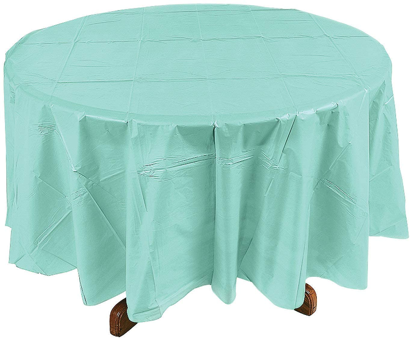 MINT PLASTIC ROUND TABLECOVER (82