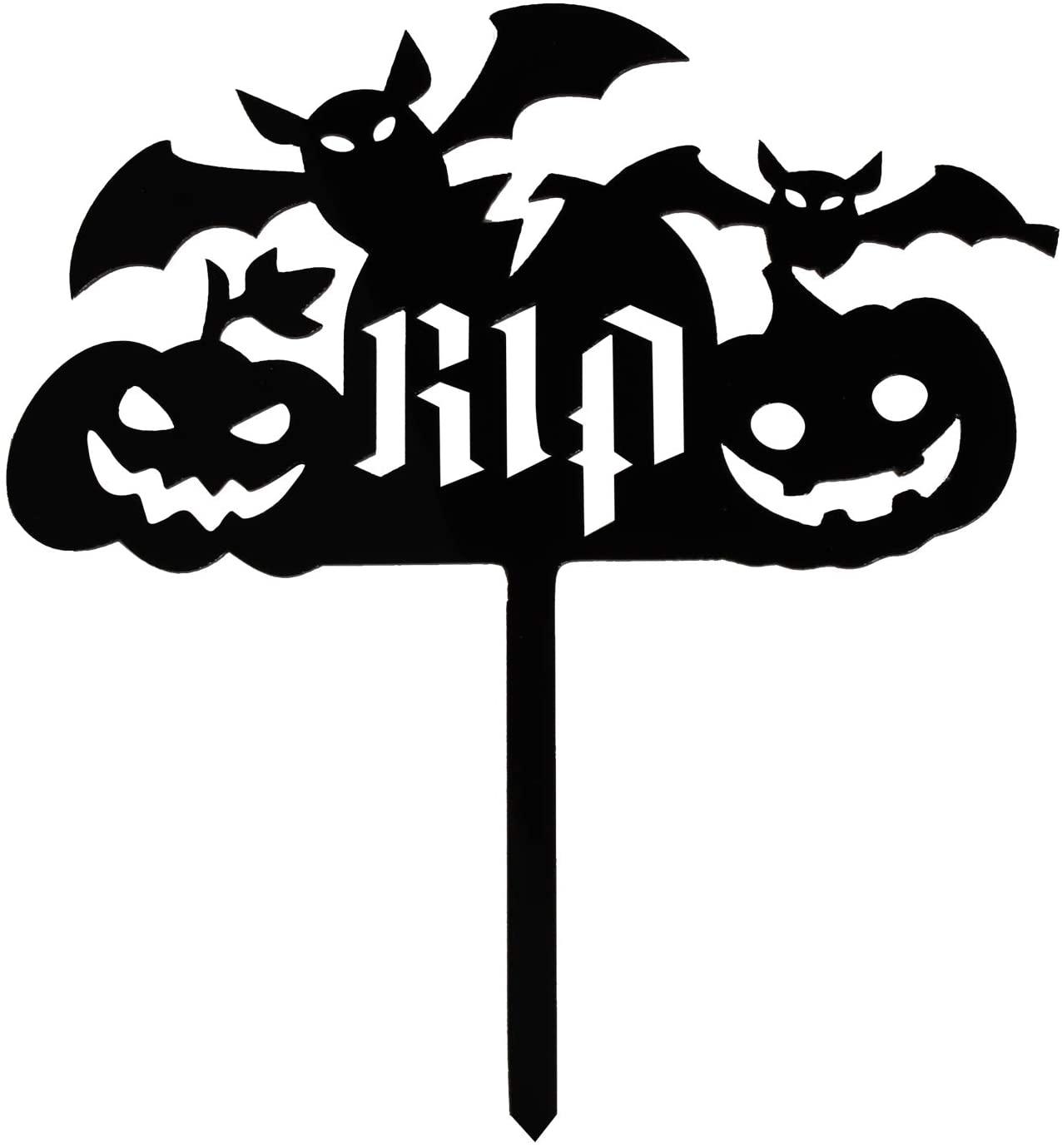 Halloween Cake Top Hat Pumpkin Bat Creative Baking Cake Decoration Funny Party Supplies